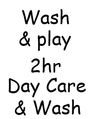 Wash & Play 2hrs